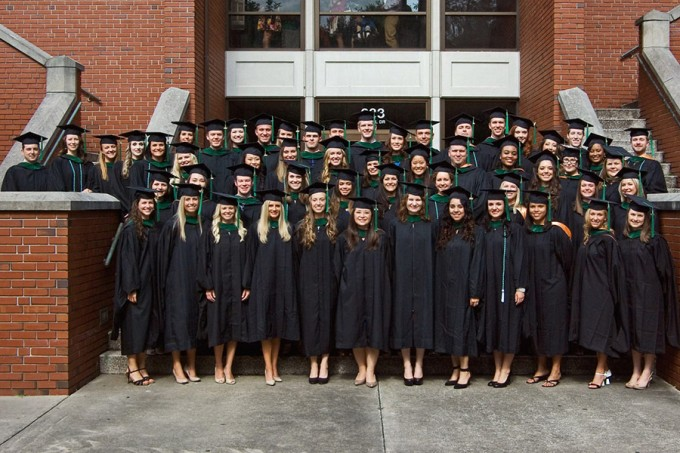 The UF School of PA Studies class of 2014. Photo by Jeff Knee